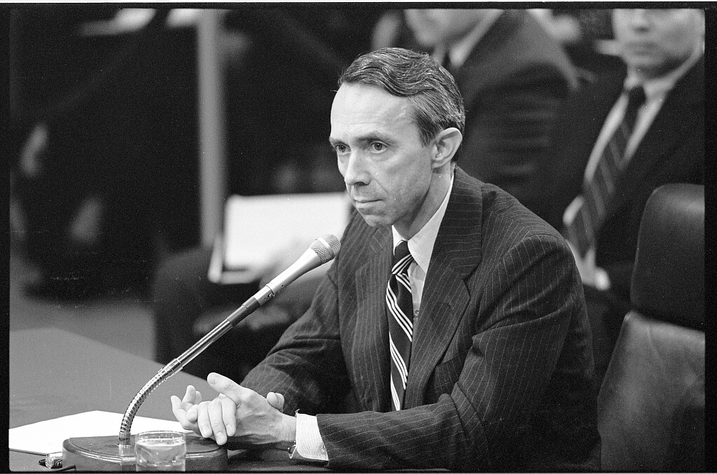 David Souter at his Senate confirmation hearing in 1990.
